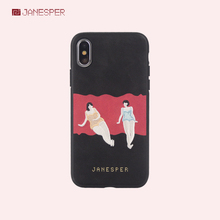 Janesper high quality cartoon cute girl mobile phone case back cover