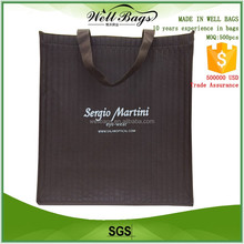 custom inside outside whole bag printing color embossed texture non woven reusable shopping tote bag