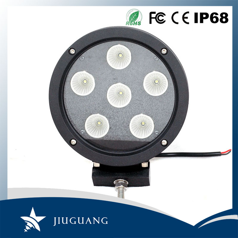 60W LED Spot beam Flood beam round shape waterproof 7inch LED work light for atv, suv, tractor