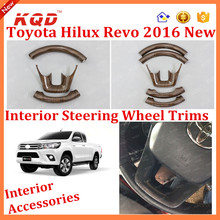 Hot Sale Wooded Car Steering Wheel Cover For Toyota Hilux Revo Accessories Wooded Car Steering Wheel Cover For Revo