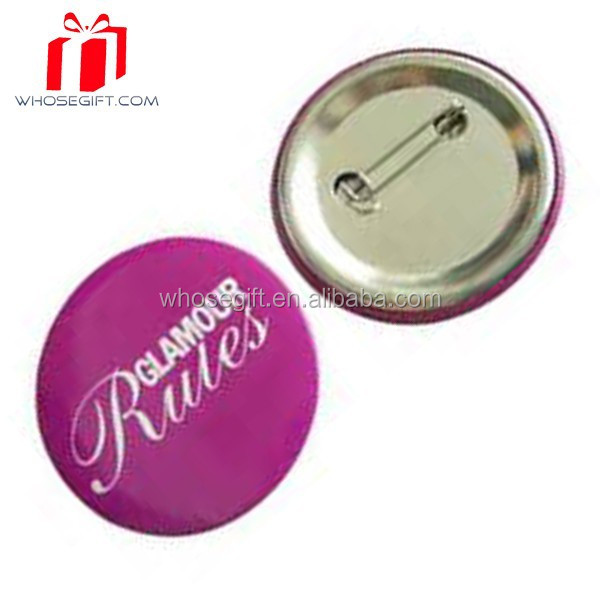 Promotional Gift Round Button Smile Face Tinplate Badge