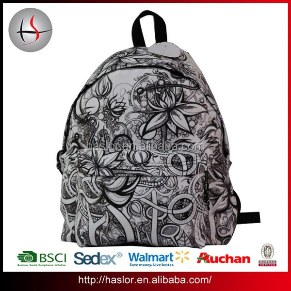 Cheap wholesale polyester fashion school backpack bag