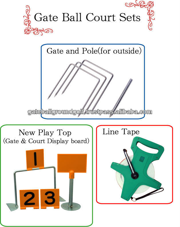 Nichiyo gate ball play games set gate pale display board line game nichiyo gate ball play games set gate pale display board line game tape buy game tapedisplay boardcourt product on alibaba ccuart Images