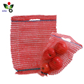 HDPE vegetables raschel small mesh bags with handle and drawstring