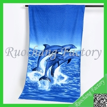 Animal photo printed beach towel microfiber fabric beach towel