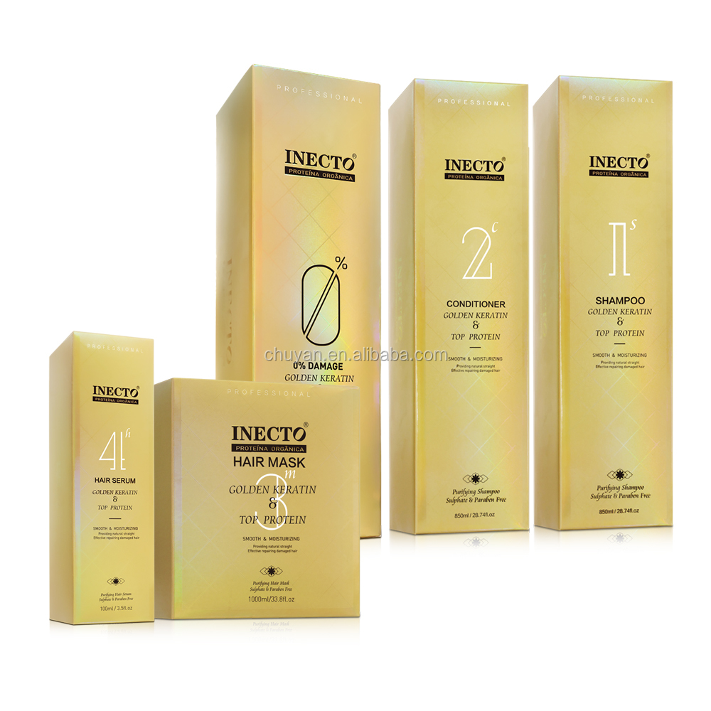 Wholesale 1000ML INECTO keratin gold collagen hair mask for damaged hair
