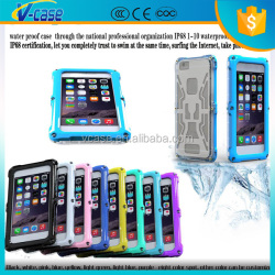 real ip 68 waterproof gorilla glass aluminum metal case for iphone 6