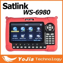 Original Satlink Satellite Finder HD LCD Screen DVB-S2&DVB-T/T2&DVB-C Combo WS 6980 Receiver