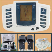 New Electrical Stimulator Full Body Rela Muscle Massager Pulse TENS Acupuncture with Therapy Slipper 4 Electrode Pads JR309