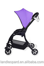 Purple color baby carriages manufacturer producing high end 3 in 1 buggy with new design pushchair w/ big wheels swivel wheels