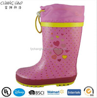 CH.C (182) Young girl boots Cheap Kids Fashion Rubber Rain Boot clear shoes