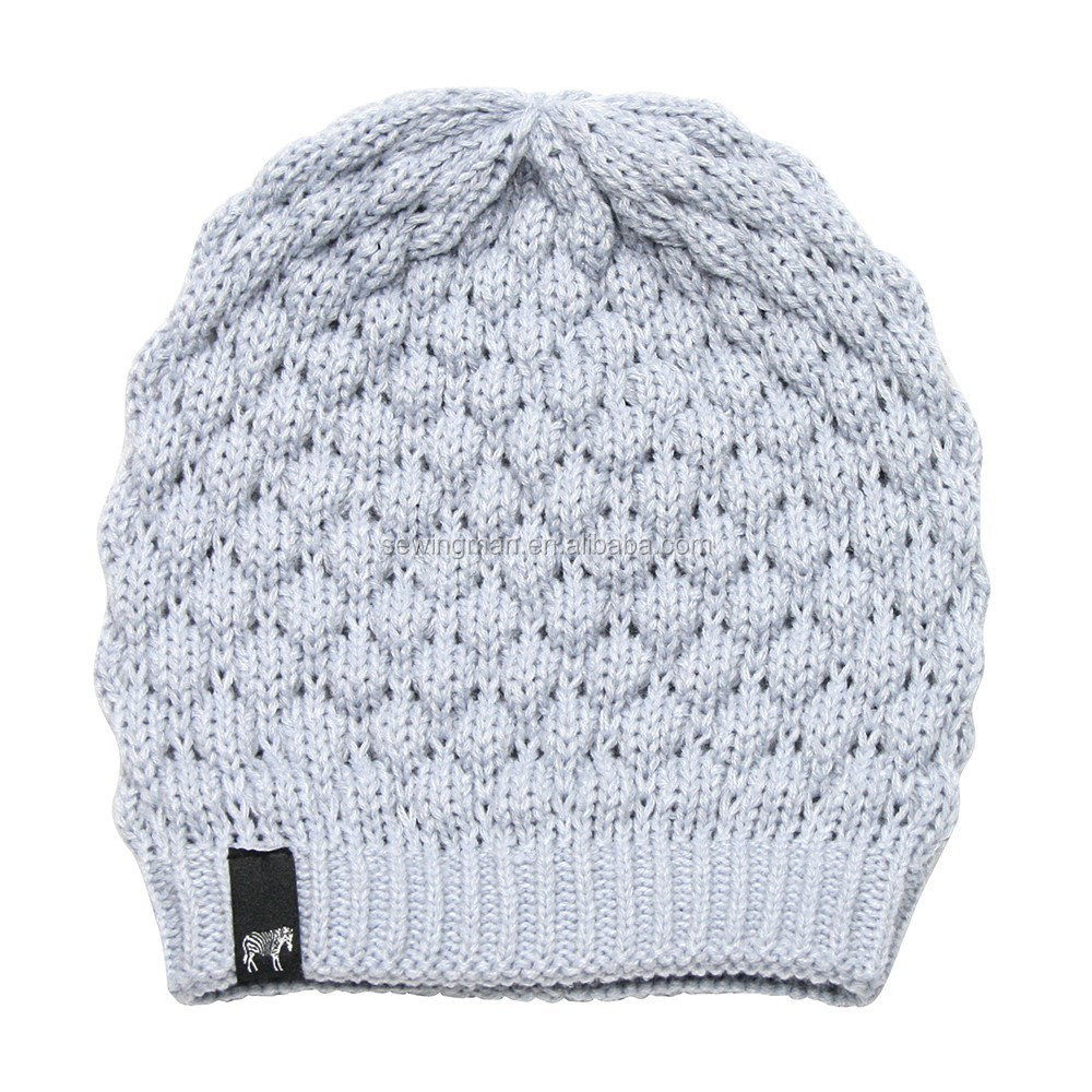 Cold Weather Hat Oversized Crochet Hat Knitted Beanie Hat