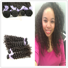 Free sample brazilian human hair sew in weave curly hair