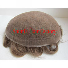 full french lace bleach knot men's toupees
