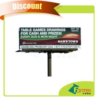 300gsm (9oz) 200D*300D 18*12 fengtai banner printing service