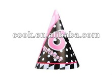 6th Kids Birthday Party Funny Paper Cone Hats