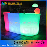 China nightclub party acrylic led light cocktail bar table