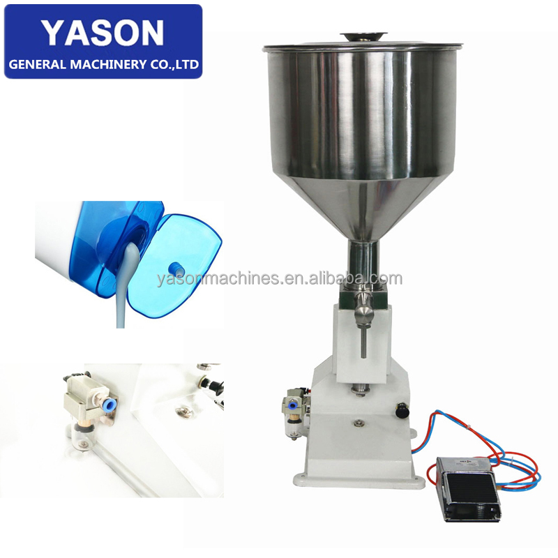 <strong>A02</strong> 5-70ml Tabletop Pneumatic Shampoo Cream Paste Filling Machine