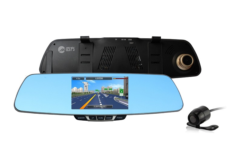 Rearview Mirror 5'' GPS G-Sensor Dual Camera Car DVR Android 2 camera Rearview Mirro Dash Cam