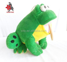 2015 Hot Selling Customized Plush Pet Toys green Stuffed Frog