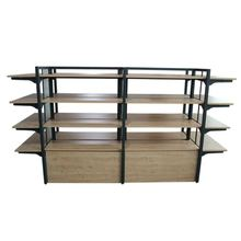 New Style Supermarket Wood Wall Hanging <strong>Shelf</strong> 2019 Retail Store Display Rack Shop