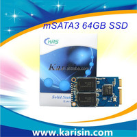 Hot sale JMF608 Solution 6gb/s msata mini ssd 64gb half size