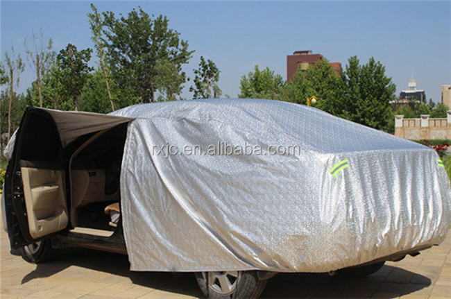 Plastic Covers Garages : Waterproof folding garage car cover plastic parking