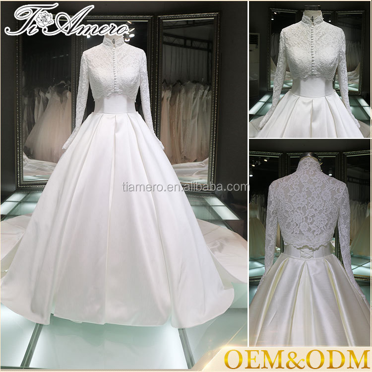 muslim bridal wedding dress hot sale high quality wedding dress bridal gown muslim wedding dress