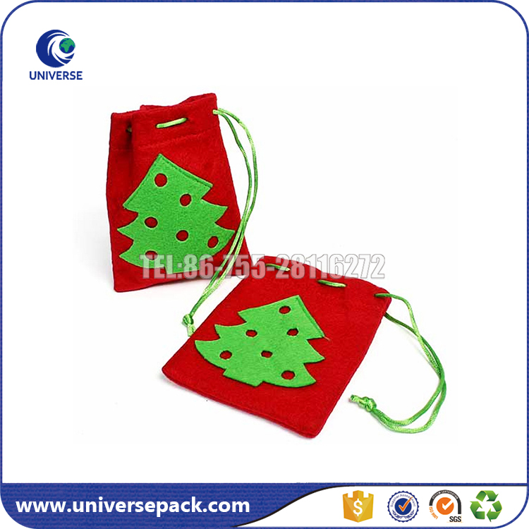 Fashion new products felt drawstring pen pouch with logo