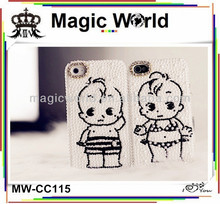 Cute boy& girl pearl phone case,wholesale cheap cell phone