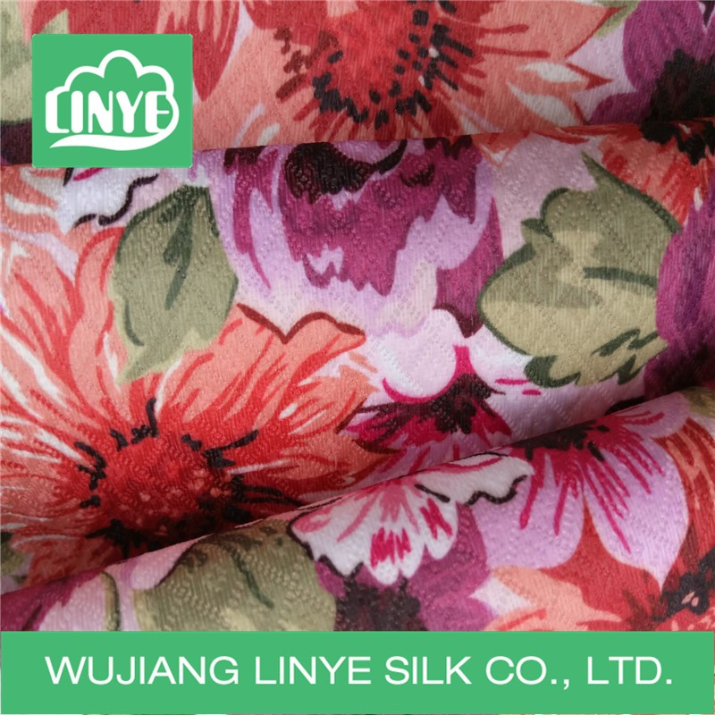 polyester flowers jacquard textile fabric for apron