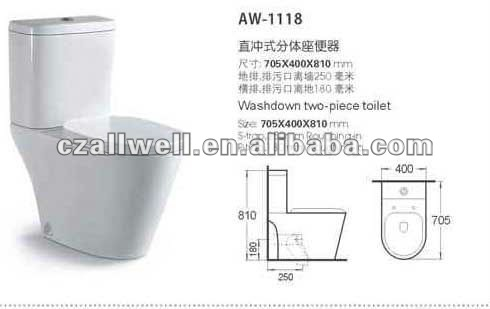 HOT Sanitary Ware Ceramic Two Piece Toilet Bowl