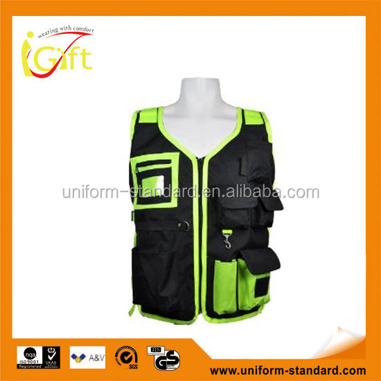 High quality roadway protective high visibility cheap reflective motorcycle vest