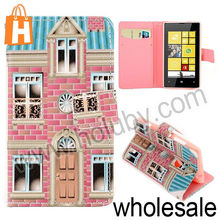 Unique House Flip Leather Case for Nokia Lumia 520 525,Fashion Cross Pattern Magnetic PU Leather Case for Nokia Lumia 520 525