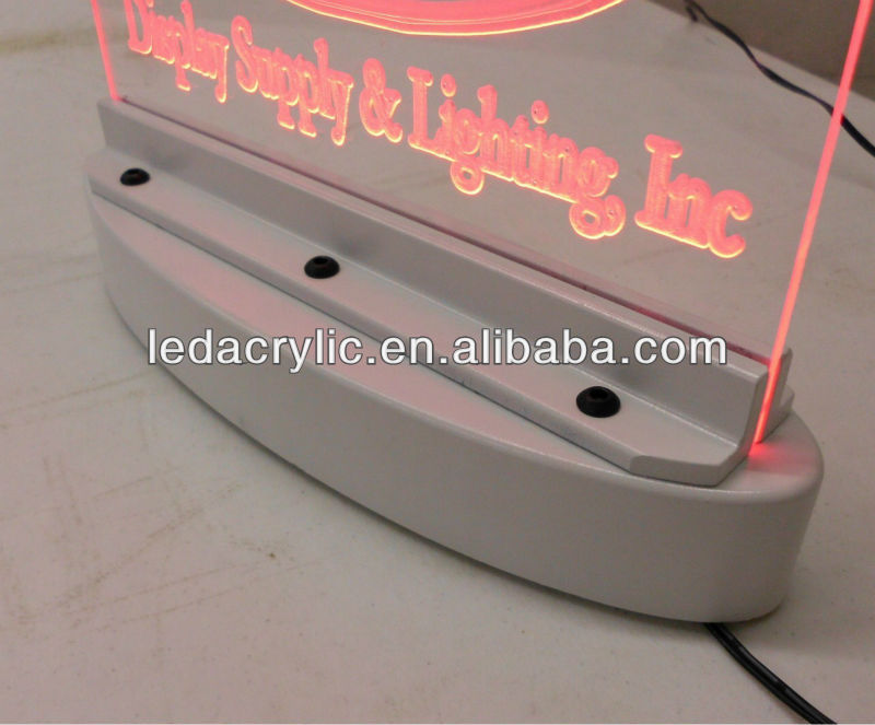 Rechargeable LED Edge Lit Sign Base