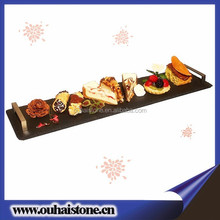 Superior quality natural surface cheese plates with handles rectangle serving board