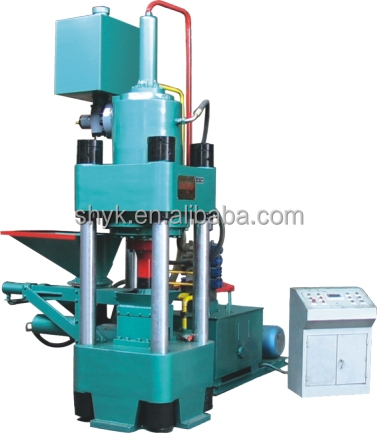 Reliable Capacity iron powder/sponge iron powder/mill scale Briquette machine from Shanghai Yuke Industrial