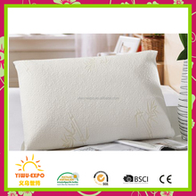 Wholesale headrest memory foam pillow deluxe queen Bamboo pillow filling with shredded memory foam