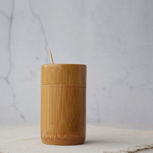 natural and beautiful handmade artcraft and household round bamboo tooth pick holder