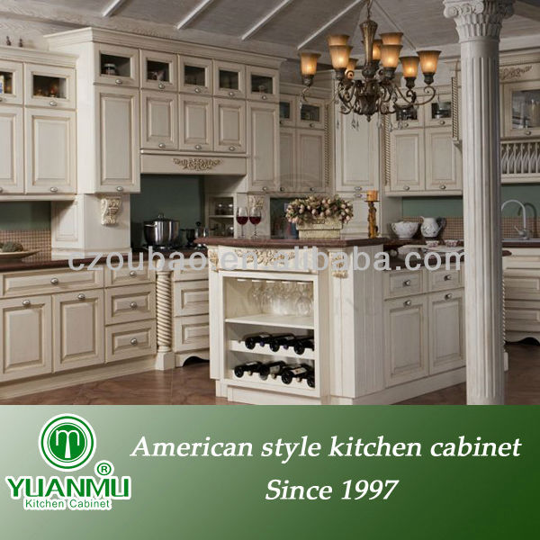 whole ready to assemble american style white oak solid wood kitchen cabinet