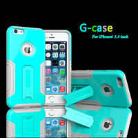 Hard Protective G-CASE DESIGN Serious PU Leather Coated TPU Case for iPhone6