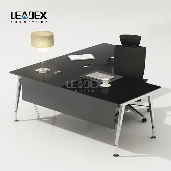 Modern Executive White Glass Desk Office Table Design