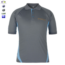 Custom Gray Raglan Polyester European Size Polo Shirt