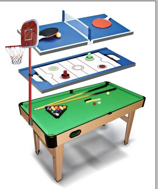 2016 new 4 in 1 multifunctional ga table for kids for 11 in 1 game table