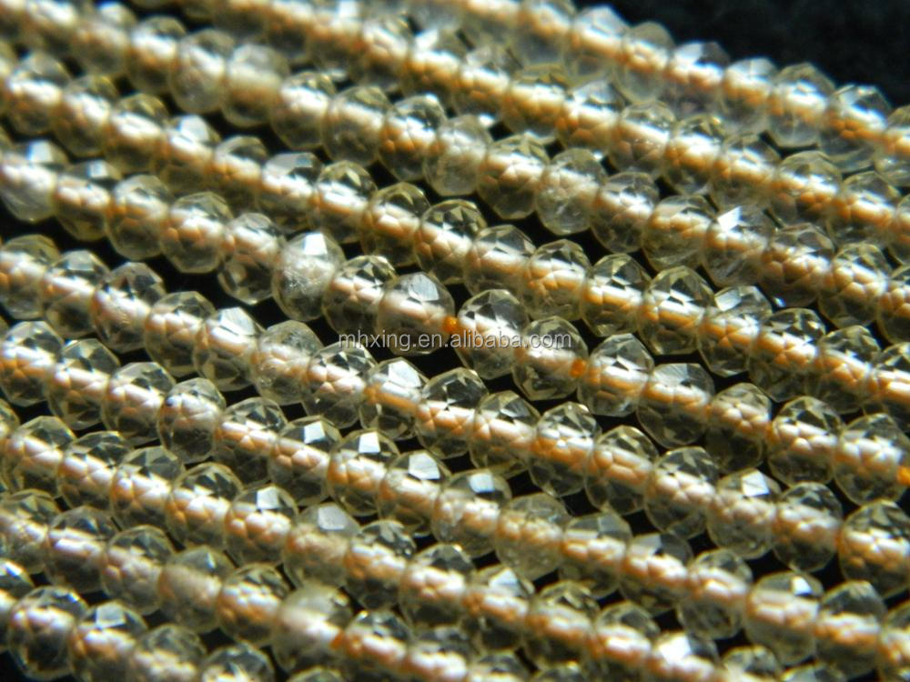 Free shipping wholesale natural stone 2.5*3.5mm Citrine handmade shining faceted rondelle gemstone beads for jewelry making