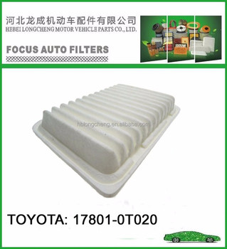 White color Toyota Air Filters Auto Spare Parts OEM 17801-0T020