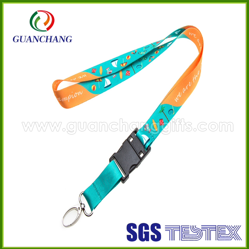 custom design high quality stylish name brand polyester sublimation cool lanyard with usb flash drive