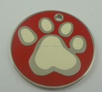 Custom paw glitter pet ID tags for dogs / dog tags