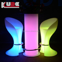 led furniture lighting Bar furniture lighting/color changing plastic bar table portable