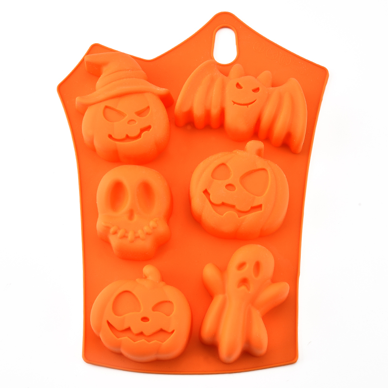 Halloween pumpkins silicone cake mold baking diy chocolate mould pudding sugar cake pan